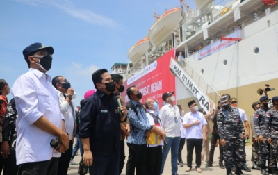 Tinjau KM Bukit Raya, Thohir: Gotong Royong Tangani Covid-19