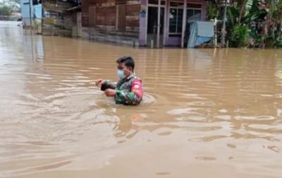 Banjir di Kabupaten Katingan Berangsur Surut