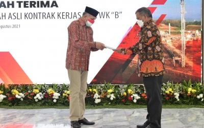 Gubernur Aceh Terima Penyerahan Kontrak Kerja Sama Migas Blok B