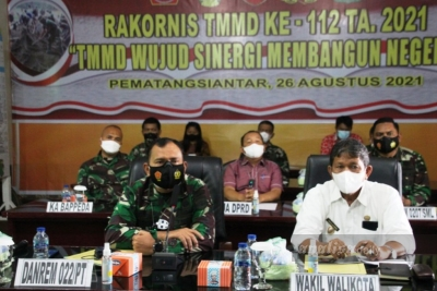 Danrem 022/PT Ikuti Rapat Koordinasi Teknis TMMD 2021