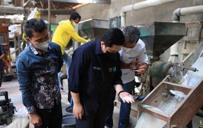 Menteri BUMN dan BRI Dukung Produksi Padi Model Bisnis Klaster & Penggunaan Teknologi Modern di Cirebon