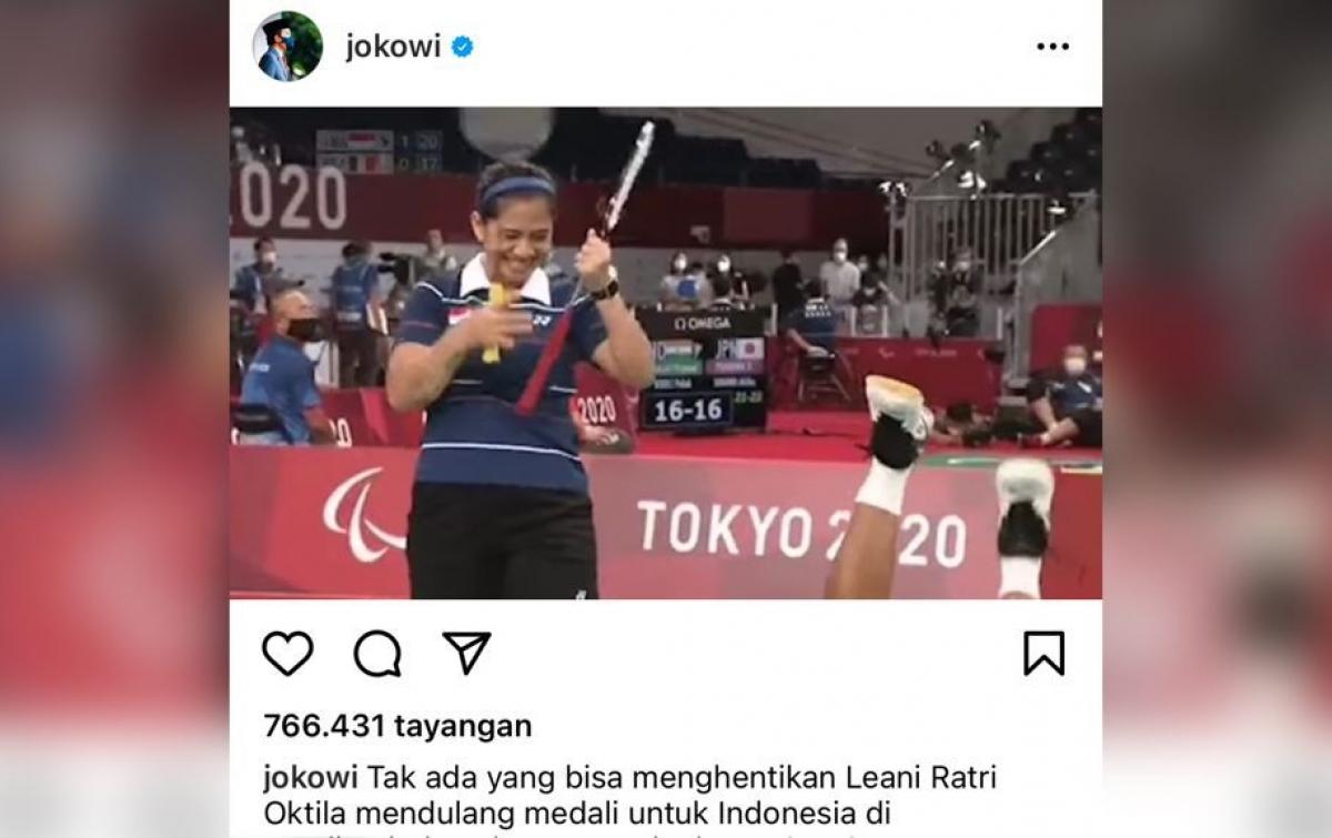 Jokowi: Tak Ada yang Bisa Hentikan Leani Ratri