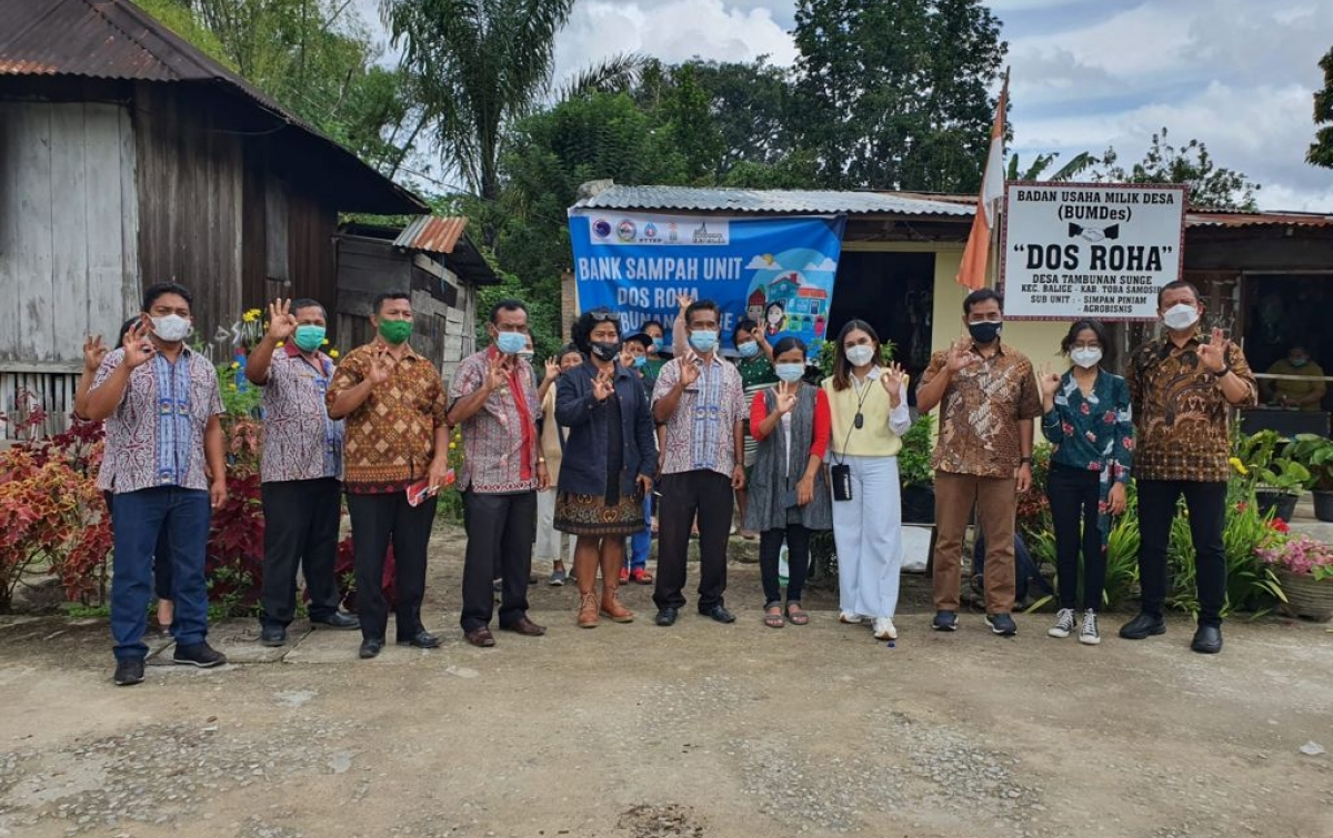 PTTEP Dukung Pengolahan Sampah Terpadu di Kawasan Pariwisata Super Prioritas Danau Toba