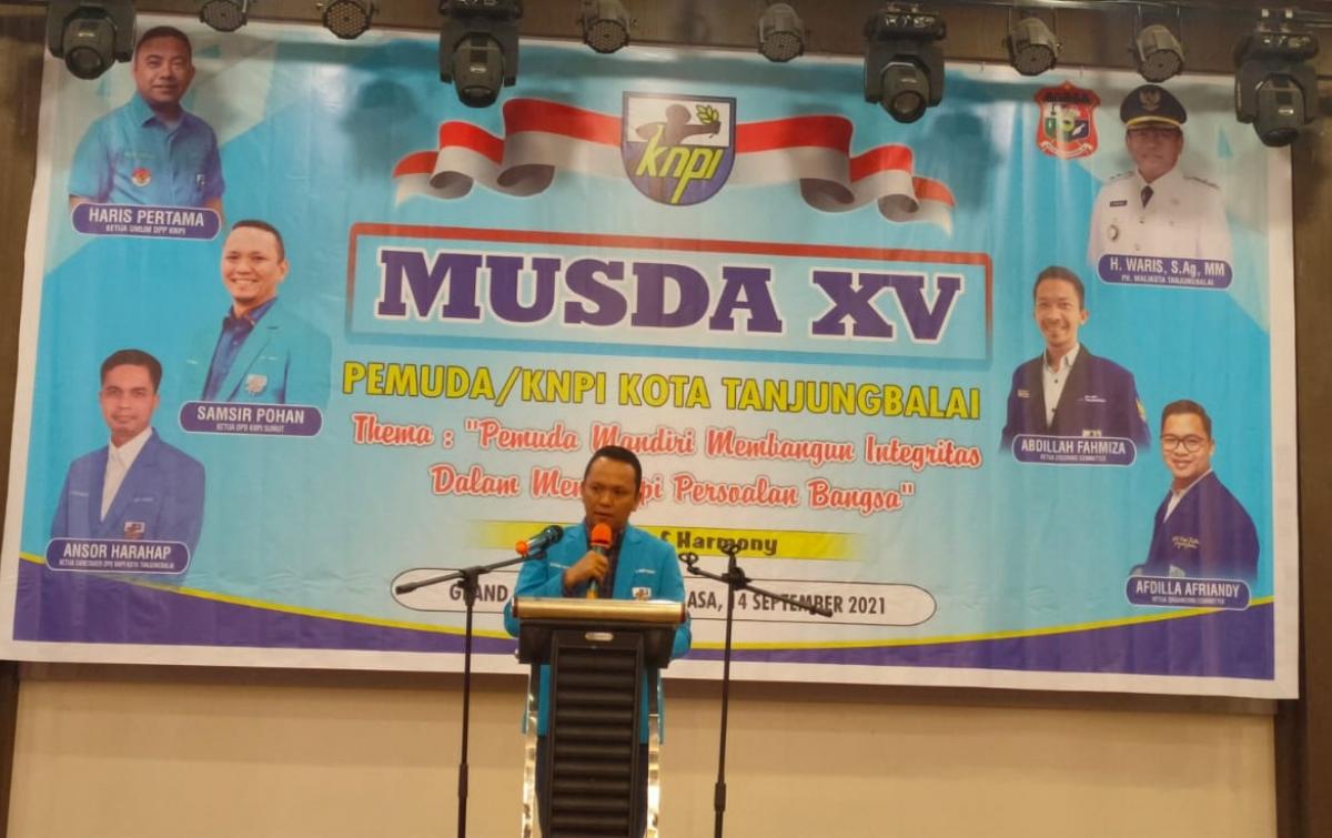 Samsir Pohan Resmi Buka Musda XV KNPI Tanjungbalai