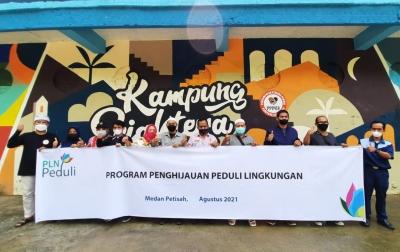 Peduli Lingkungan, PLN UIP Sumbagut Serahkan CSR ke Kampung Sejahtera