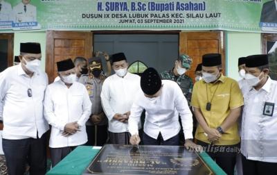 Wagubsu Resmikan Masjid Al-Musannif di Kabupaten Asahan