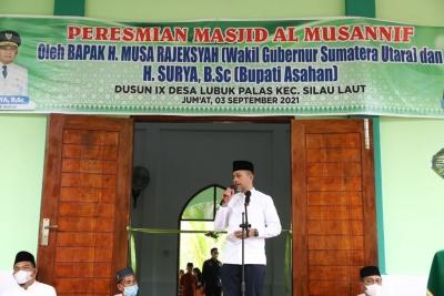 Masjid Al Musannif ke-22 Diresmikan, Musa Rajekshah: Semoga Jadi Amal Jariyah