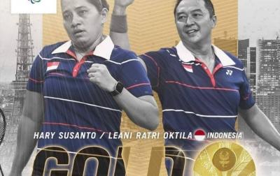 Hary/Leani Sumbang Medali Emas Kedua untuk Indonesia