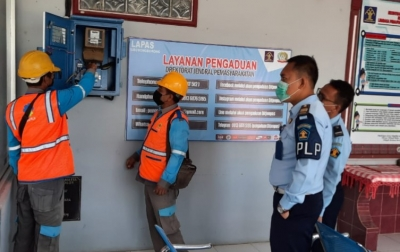 Petugas PLN Cek Instalasi Listrik di Lapas Siborongborong