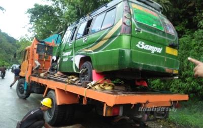 Kecelakaan di Sitinjo, 6 Penumpang Luka-luka