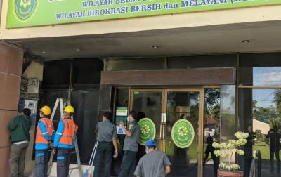 Korsleting Listrik, Panel Listrik Kantor PN Stabat Terbakar