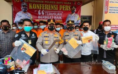 Empat Begal Sadis Ditangkap Polres Batubara, Dua Ditembak