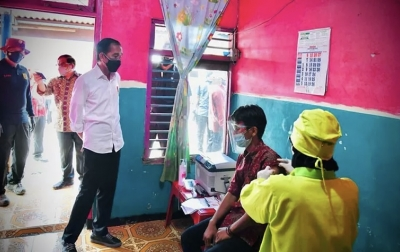 Jokowi Gembira Masyarakat Antusias Bantu Percepatan Vaksinasi Covid-19