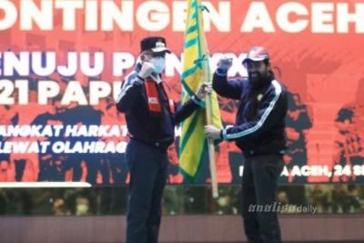 Berkekuatan 127 Atlet, Gubernur Aceh Lepas Kontingen ke PON Papua
