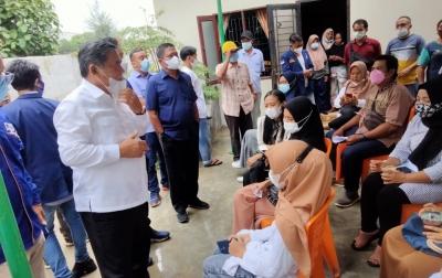 Wakil BupatiDeliserdang Tinjau Vaksinasi Covid-19 Liga MahasiswaPartai NasDem