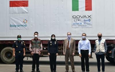 Indonesia Kembali Terima Bantuan Vaksin Covid-19, Kali Ini 796.800 Dosis dari Italia