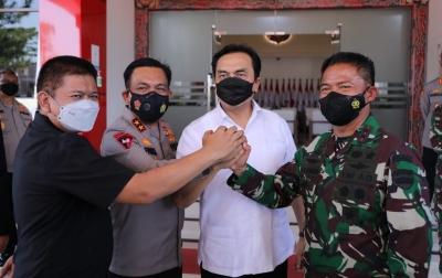 Kasus Covid-19 di Sumut Turun, Effendi Simbolon: Berkat Kerja Sama TNI-Polri dan Masyarakat