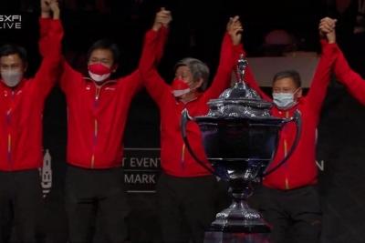 Kalahkan China 3-0, Indonesia Juara Thomas Cup