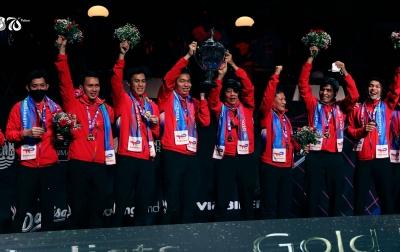 Indonesia Mendominasi Daftar Juara Sepanjang Pagelaran Piala Thomas