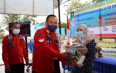 Lapas Siborongborong Bagi-bagi Sembako Kepada Masyarakat