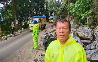 Pasca Longsor, Polisi Berlakukan Buka Tutup Jalan Medan-Berastagi